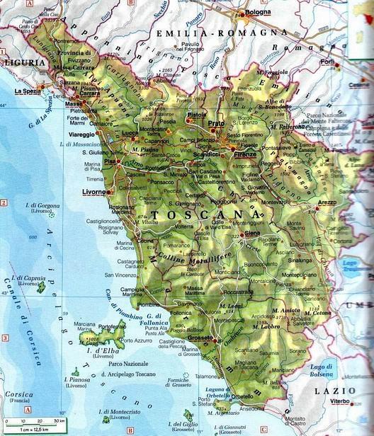 Toscana Politica Cartina Geografica.Cartina Muta Toscana